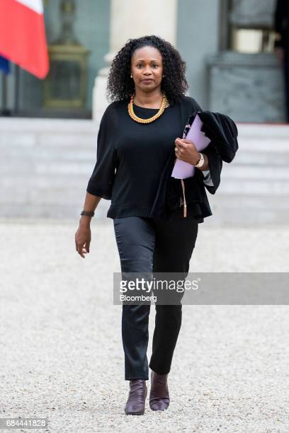 Laura Flessel France's minister for sport departs following a cabinet meeting at the Elysee Palace in Paris France on Thursday May 18 2017 President...