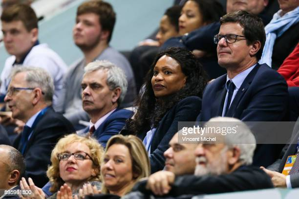 Laura Flessel frecnh Minister of Sports during the CEV Challenge Cup match between Tours and Olympiacos Piraeus on December 19 2017 in Tours France