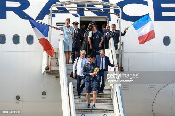Illustration Fans during the arrival at Airport Roissy Charles de Gaulle on July 16 2018 in Paris France