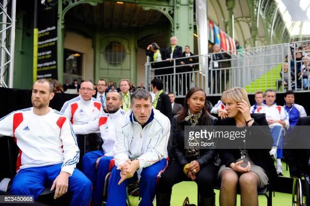 Laura FLESSEL / Nadine MORANO France / Italie 1/4 Finale Fleuret par equipe Dames Championnats du Monde 2010 Paris