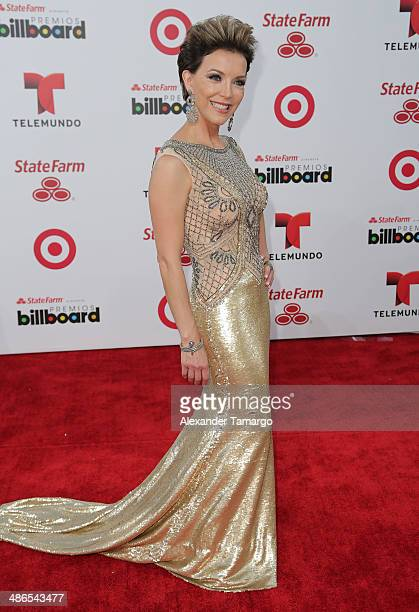 Laura Flores arrives at the 2014 Billboard Latin Music Awards at Bank United Center on April 24 2014 in Miami Florida