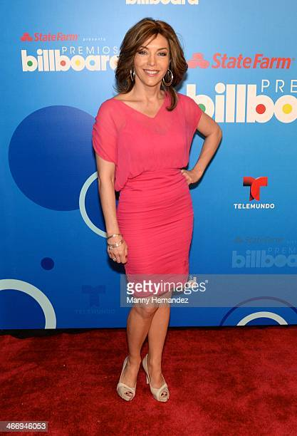 Laura Flores attends 2014 Billboard Latin Music Awards Press Conference to announce nominations at Gibson Miami Showroom on February 5 2014 in Miami...