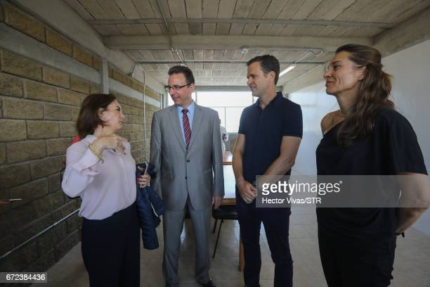 Laura Franco President of Laureles Foundation Christoph Huber head of the Latin America team at Kindermissionswerk Die Sternsinger Oliver Bierhoff...