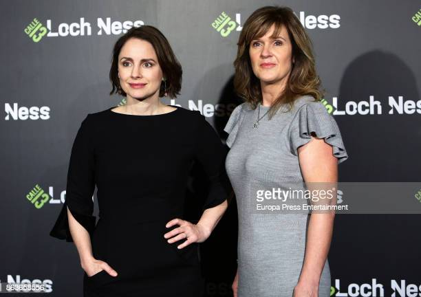 Laura Fraser and Siobhan Finneran attend a photocall for 'Loch Ness' at the Santo Mauro Hotel on October 20, 2017 in Madrid, Spain.