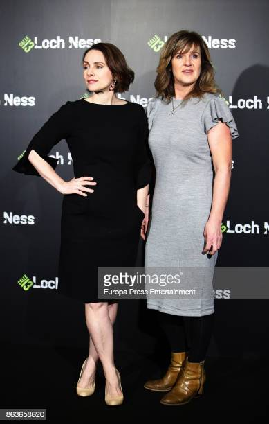 Laura Fraser and Siobhan Finneran attend a photocall for 'Loch Ness' at the Santo Mauro Hotel on October 20 2017 in Madrid Spain