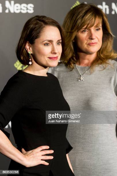 Laura Fraser and Siobhan Finneran attend 'Loch Ness' photocall at Santo Mauro Hotel on October 20 2017 in Madrid Spain