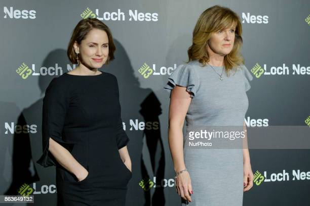 Laura Fraser and Siobhan Finneran attend 'Loch Ness' photocall at Santo Mauro Hotel on October 20, 2017 in Madrid, Spain.