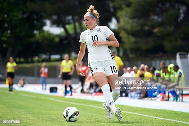 Laura Freigang of Germany in action during the Four Nations Tournament match between U20 Women's Haiti and U20 Women's Germany at Stade Marcel...