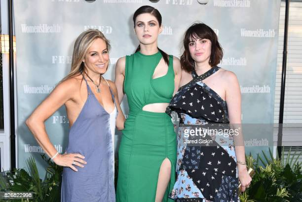 Laura FrererSchmidt actress Alexandra Daddario and Amy Keller Laird attend Women's Health and FEED's 6th Annual Party Under the Stars at...