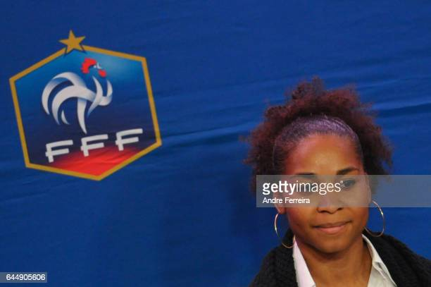 Laura Georges during the press conference of Noel Le Graet presentation of his team for the presidential election of the French Football Federation...