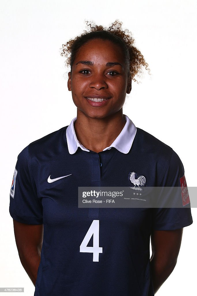 Laura Georges of France poses during a FIFA Women's World Cup portrait session on June 6, 2015 in Moncton, Canada.