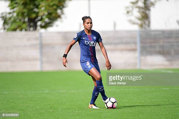 Laura Georges of PSG during the women's French D1 league match between PSG and Olympique de Marseille at Camp des Loges on September 25 2016 in Saint...