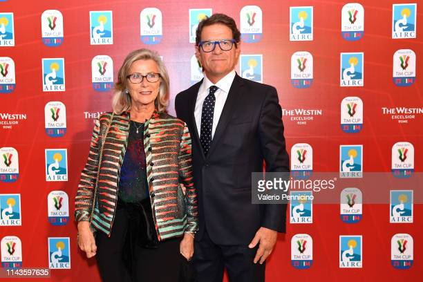 Laura Ghisi and Fabio Capello attend during the Charity Gala Dinner on May 13 2019 in Rome Italy