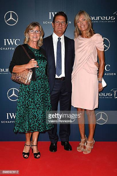 Laura Ghisi Fabio Capello and Daria Braga attend during the Laureus F1 Charity Night at the MercedesBenz Spa on September 1 2016 in Milan Italy