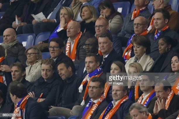 Laura Ghisi Fabio Capello Clarence Seedorf Louis van Gaal Truus van Gaalduring the friendly match between Netherlands and Italy at the Amsterdam...