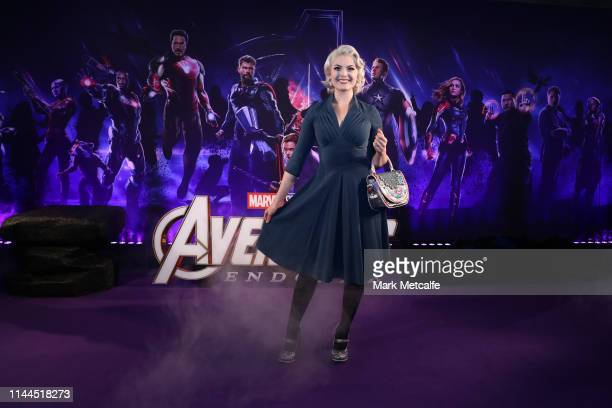 Laura Gilbert attends the Sydney screening of Avengers End Game at Hoyts Entertainment Quarter on April 23 2019 in Sydney Australia