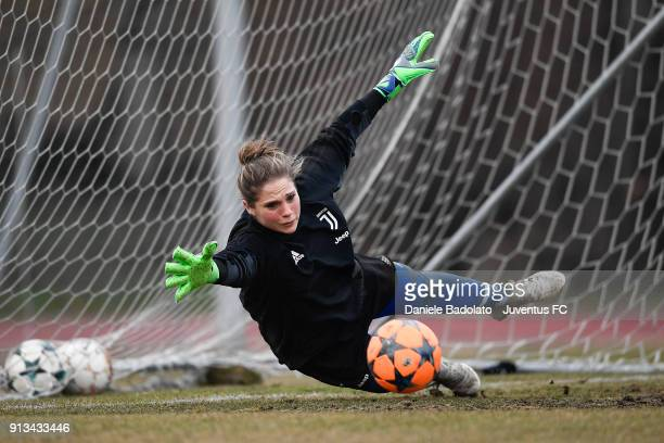 Laura Giuliani during a Juventus Women training session on February 2 2018 in Turin Italy
