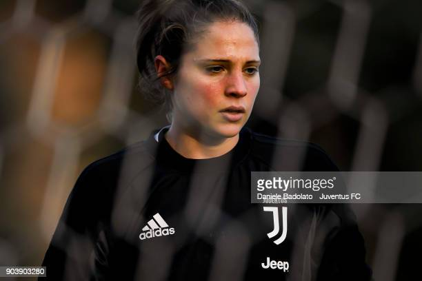 Laura Giuliani during a Juventus Women training session on January 11 2018 in Turin Italy
