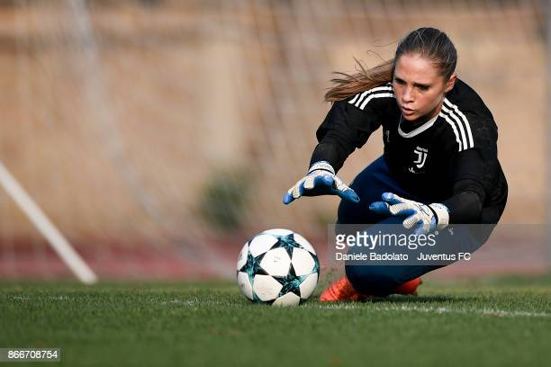 Laura Giuliani during a Juventus Women training session on October 26 2017 in Turin Italy