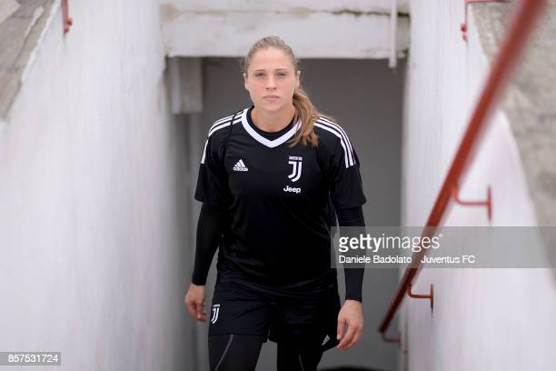 Laura Giuliani during a Juventus Women training session on October 4 2017 in Turin Italy