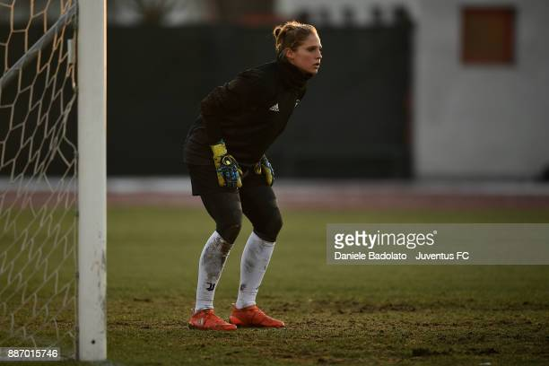Laura Giuliani during the Juventus Women Training Session on December 6 2017 in Turin Italy