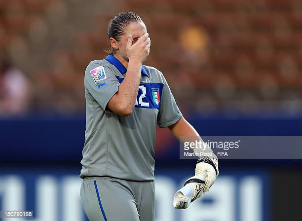 Laura Giuliani goalkeeper of Italy looks dejected after the FIFA U20 Women's World Cup 2012 group B match between Italy and Nigeria at Kobe...