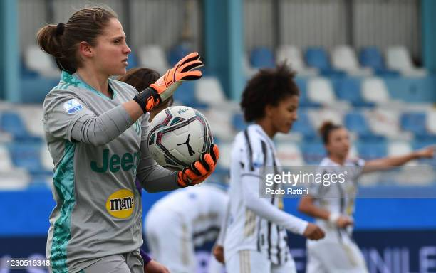 Laura Giuliani, goalkeeper of Juventus in action during the Women's Super Cup Final match between Juventus and ACF Fiorentina at Stadio Comunale on...