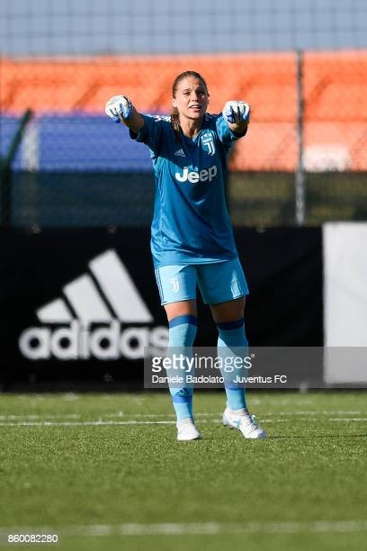 Laura Giuliani in action during the Juventus Women v Res Roma women match at Juventus Center Vinovo on October 7 2017 in Vinovo Italy