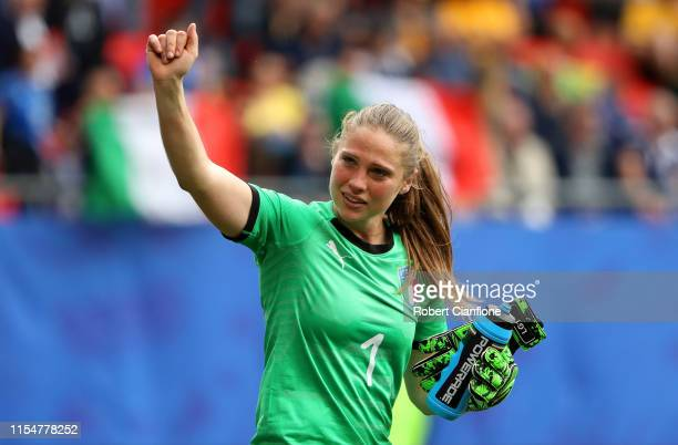 Laura Giuliani of Italy celebrates following victory in the 2019 FIFA Women's World Cup France group C match between Australia and Italy at Stade du...