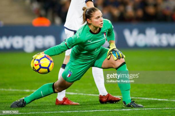 Laura Giuliani of Italy during the International friendly match between France and Italy at Stade Velodrome on January 20 2018 in Marseille France