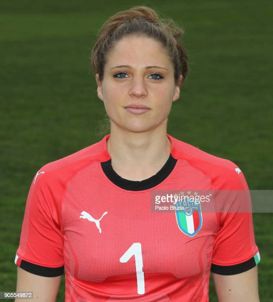 Laura Giuliani of Italy poses during the Italy women portrait session on January 16 2018 in Rome Italy