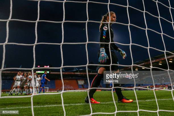 Laura Giuliani of Italy reacts during the UEFA Women's Euro 2017 at Koning Willem II Stadium on July 21 2017 in Tilburg Netherlands
