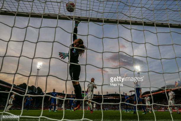 Laura Giuliani of Italy saves the ball during the UEFA Women's Euro 2017 at Koning Willem II Stadium on July 21 2017 in Tilburg Netherlands