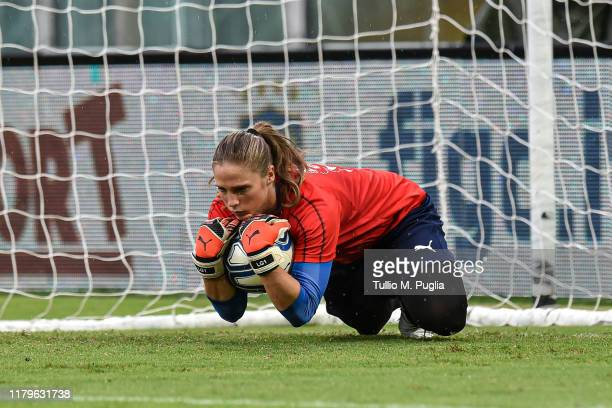 Laura Giuliani of Italy Women attends a training session prior to UEFA Women's Euro 2021 Qualifying round Group B match between Italy and Bosnia and...