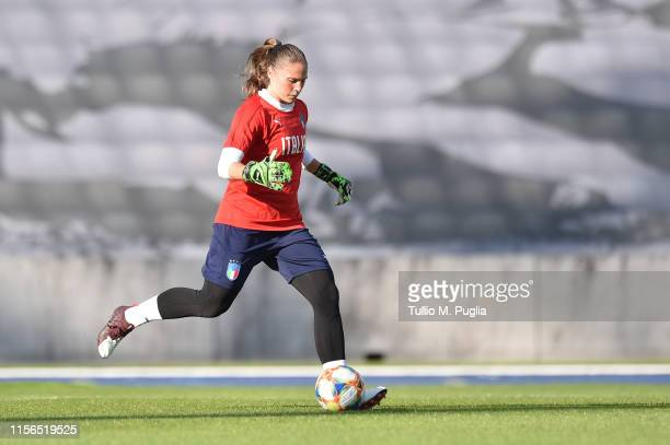 Laura Giuliani of Italy Women in action during a training session at Stadium Lille Metropole on June 17, 2019 in in Villeneuve d'Ascq near Lille,...