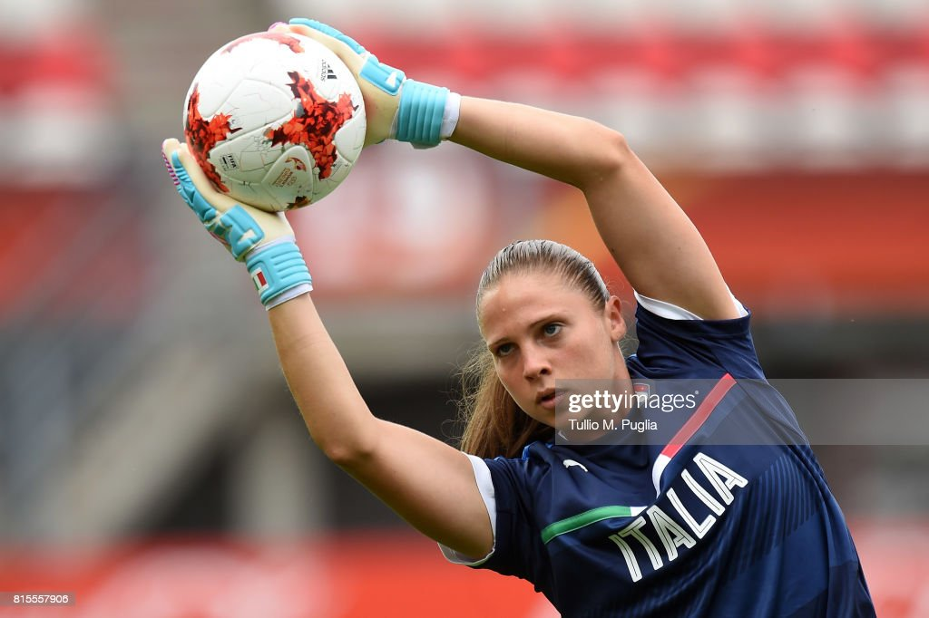 Laura Giuliani of Italy women's national team in action during a training session at Sparta Stadion Het Kasteel on July 16, 2017 in Rotterdam, Netherlands.