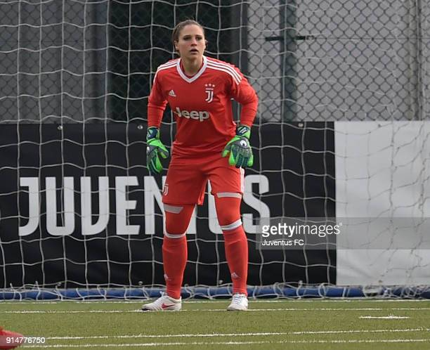 Laura Giuliani of Juventus Women in action during the serie A match between Juventus Women and Mozzanica Women at Juventus Center Vinovo on February...