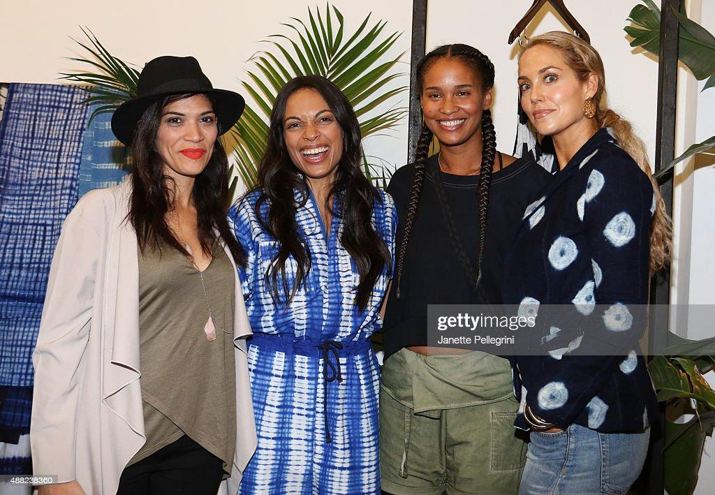Laura Gómez, Rosario Dawson, Joy Bryant and Elizabeth Berkley attend Studio 189 Presentation at Spring 2016 New York Fashion Week:The Shows on September 14, 2015 in New York City.