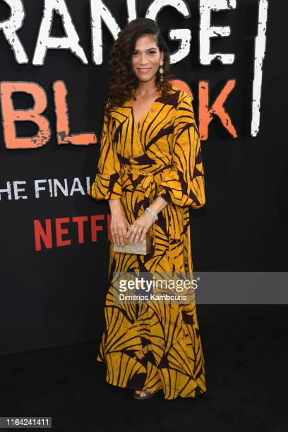 Laura Gomez attends the Orange Is The New Black Final Season World Premiere at Alice Tully Hall Lincoln Center on July 25 2019 in New York City