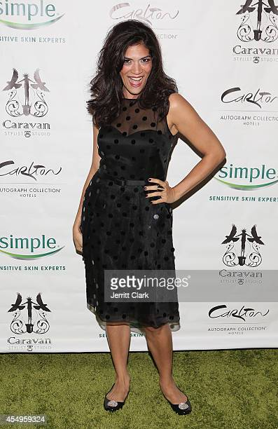 Laura Gomez attends the Simple Skincare Caravan Stylist Studio Fashion Week Event on September 7 2014 in New York City