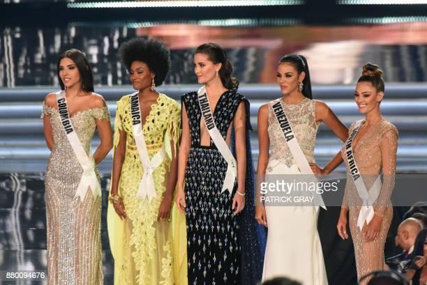 Laura Gonzalez Miss Colombia Davina Bennett Miss Jamaica Maria Poonlertlarp Miss Thailand Keysi Sayago Miss Venezuela and DemiLeigh NelPeters Miss...
