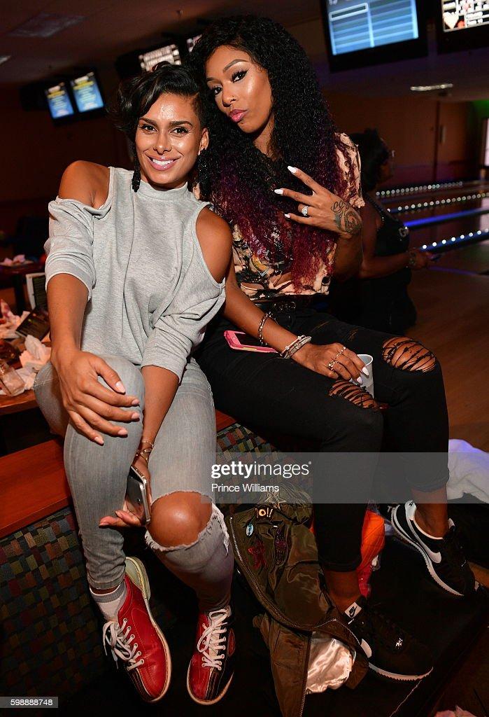 Laura Govan and Adiz 'Bambi' Benson attend LudaDay Weekend: Celebrity Bowling Tournament at Bowlmar Lanes on September 2, 2016 in Atlanta, Georgia.