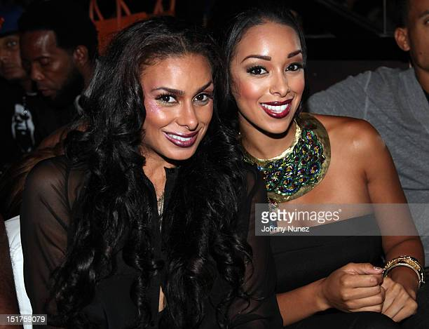 """Laura Govan and Gloria Govan attend the """"Basketball Wives LA"""" Season 2 Premiere at Suite 55 on September 10, 2012 in New York City."""
