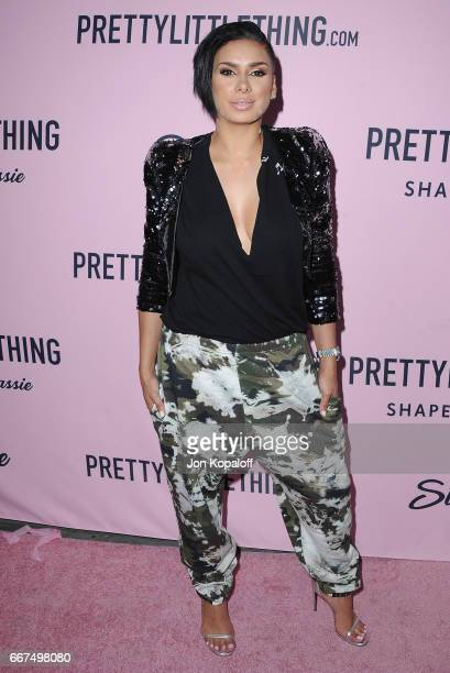 Laura Govan arrives at PrettyLittleThing Campaign Launch For PLT SHAPE With Brand Ambassador Anastasia Karanikolaou on April 11 2017 in Los Angeles...