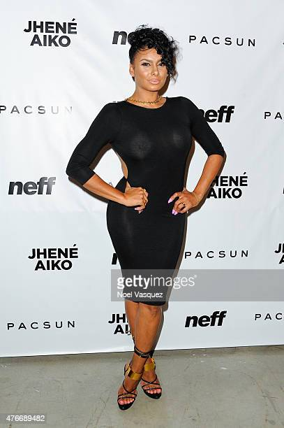 Laura Govan attends Neff Headwear x PacSun presents Jhene Aiko's 'Soul of Summer' Collection at US Bank Tower on June 10 2015 in Los Angeles...