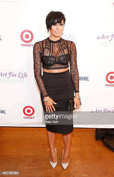 Laura Govan attends the 15th annual Art for Life Gala hosted by Russell and Danny Simmons at Fairview Farms on July 26 2014 in Water Mill New York