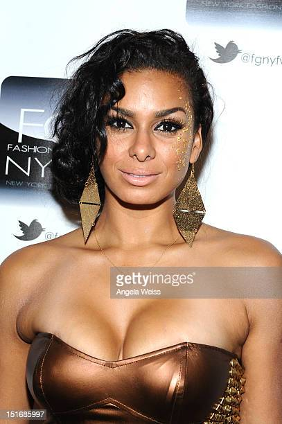 Laura Govan attends the Anna Francesca Spring 2013 fashion show during MercedesBenz Fashion Week at Helen Mills Event Space on September 9 2012 in...