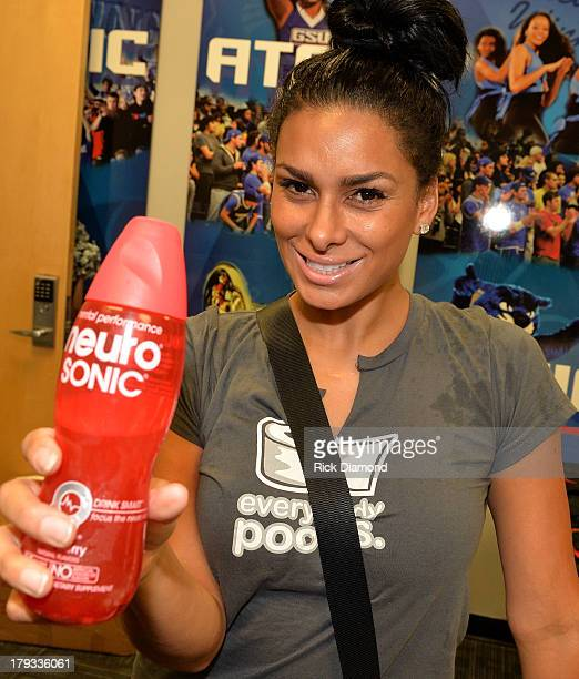 Laura Govan Basketball Wives of LA during Neuro Drinks At LudaDay Weekend Celebrity Basketball Game at GSU Sports Arena on September 1 2013 in...