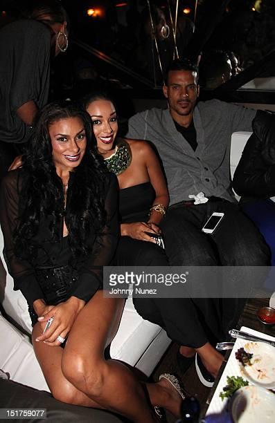 "Laura Govan, Gloria Govan, and NBA player Matt Barnes attend the ""Basketball Wives LA"" Season 2 Premiere at Suite 55 on September 10, 2012 in New..."