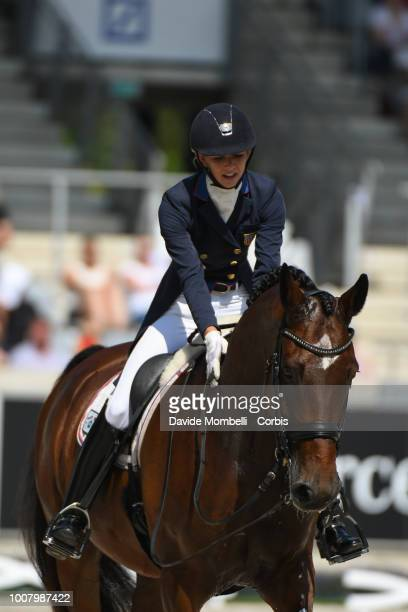 Laura Graves of United States of America riding Verdades during the dressage individual Final Grand Prix of Aachen Freestyle to music CDIO Deutsche...